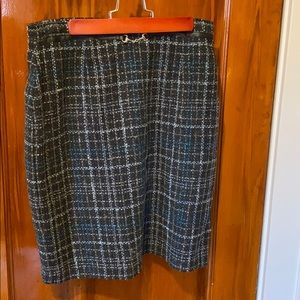 Worthington Wool Plaid Skirt